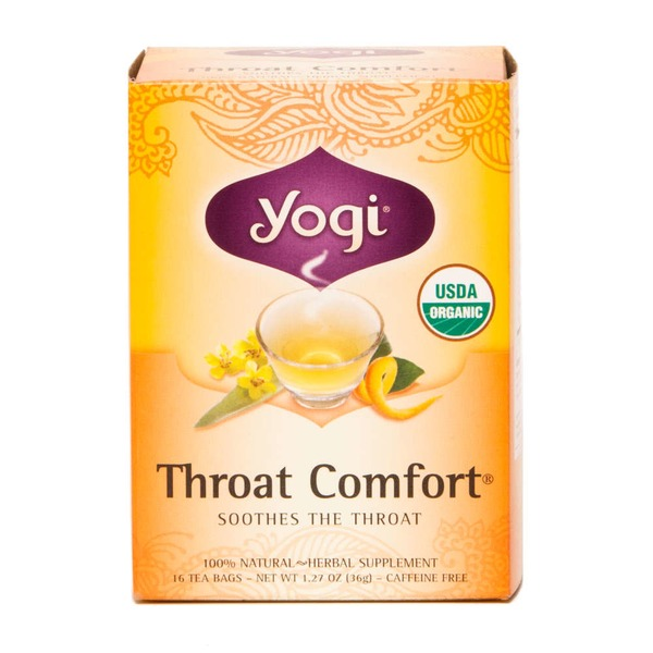 Yogi Throat Comfort Tea Bags - 16 CT