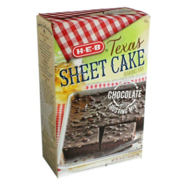 H-E-B Chocolate Texas Sheet Cake & Frosting Mix