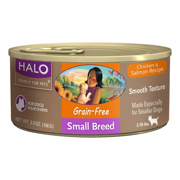 Halo Canned Grain Free Chicken & Salmon Recipe Dog Food for Small Breeds
