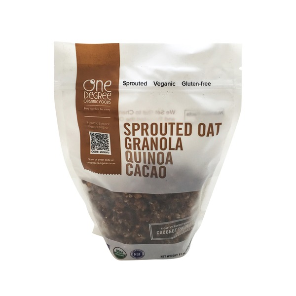 One Degree Organics Sprouted Oat Granola Quinoa Cacao