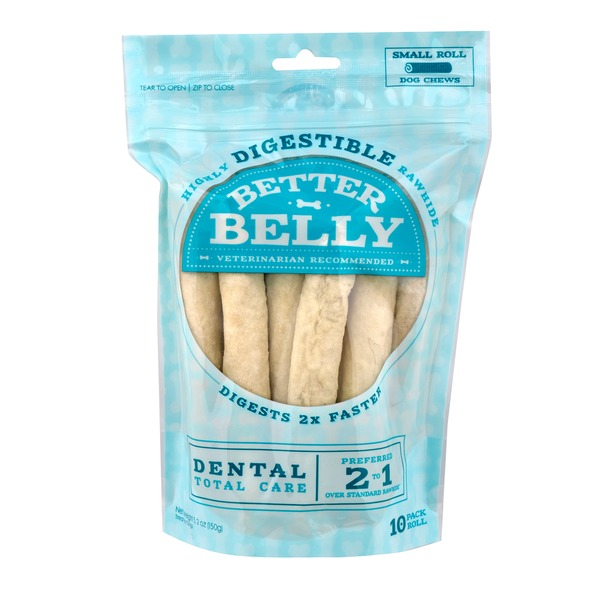 Better Belly Small Rawhide Total Dental Care Dog Chews