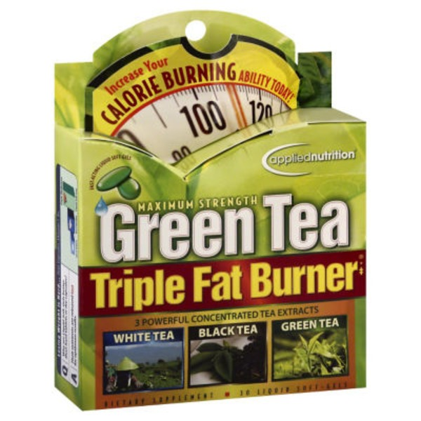 Applied Nutrition Green Tea Maximum Strength Triple Fat Burner Dietary Supplement Liquid Soft Gels - 30 CT