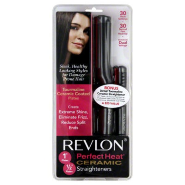 Revlon Perfect Heat 1 Inch Plates And 1/2 Inch Plates Ceramic Straighteners