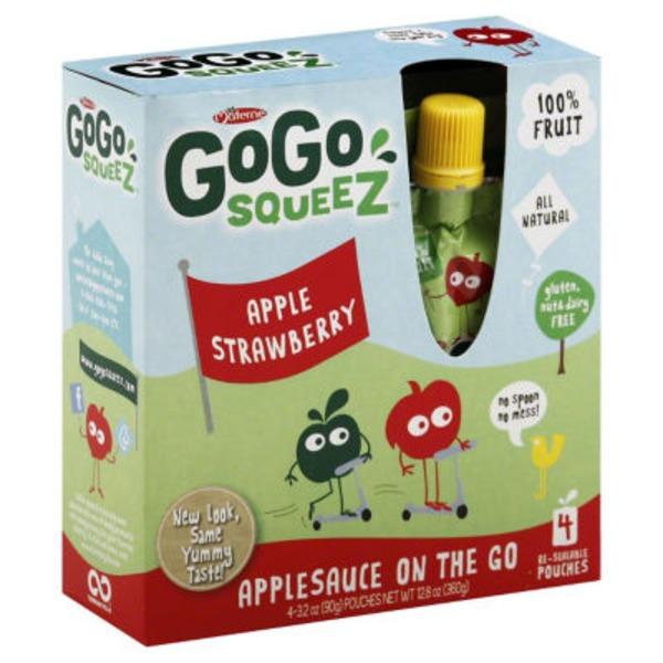 GoGo Squeez Strawberry Applesauce On The Go Pouches