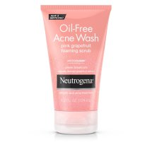 Neutrogena Oil-Free Acne Face Wash Pink Grapefruit Foaming Scrub, Salicylic Acid Acne Treatment, 4.2 Fl. Oz.