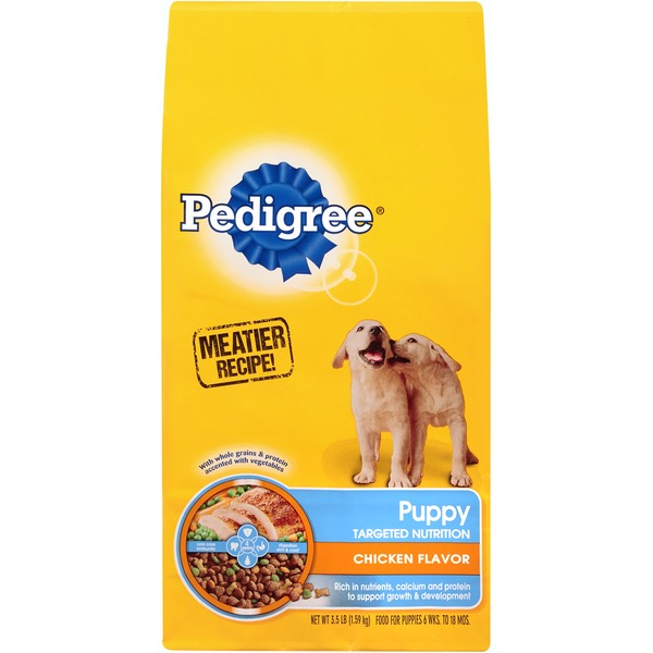 Pedigree Puppy Targeted Nutrition Chicken Flavor Dry Dog Food
