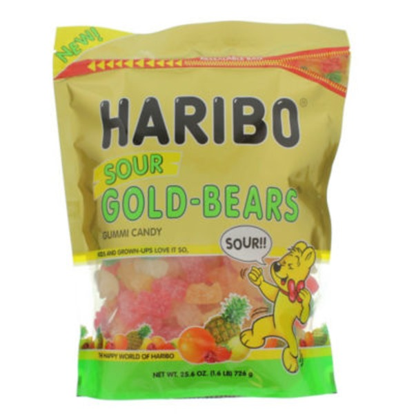 Haribo Gold-Bears Gummi Candy Sour