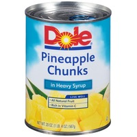 Dole Chunks In Heavy Syrup Pineapple