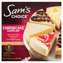 Sam's Choice Cheesecake Sampler, 28 oz, 8 Count