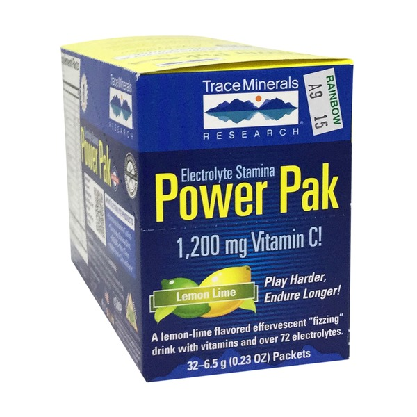 Trace Minerals Research Electrolyte Stamina Power Pak 1200mg - Lemon Lime