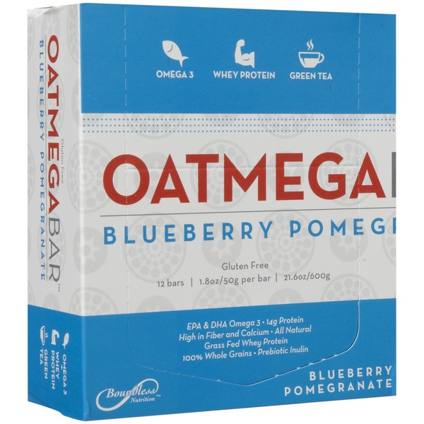 Oatmega Blueberry Pomegranate Bars 12 Ct
