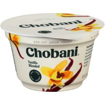Chobani Greek Yogurt Non-Fat Vanilla Blended, 5.3 oz