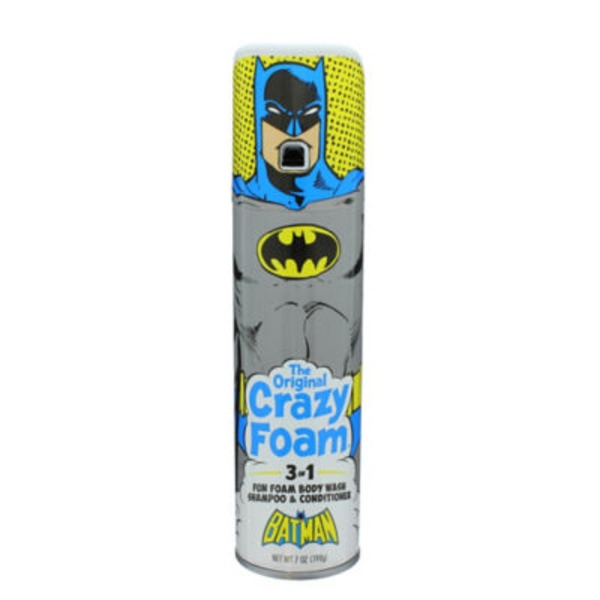Crazy Foam Batman 3 In 1 Body Wash/Shampoo/Conditioner