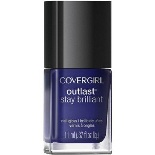 CoverGirl Outlast Stay Brilliant COVERGIRL Outlast Stay Brilliant Nail Gloss, Sapphire Flare .37 fl oz (11 ml) Female Cosmetics