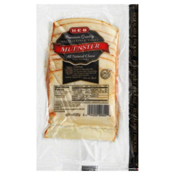 H-E-B Delicatessen Foods Muenster Pre Sliced Cheese