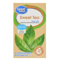 Great Value Drink Mix, Sweet Tea, Sugar-Free, 0.88 oz, 10 Count