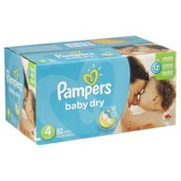 Pampers Baby Dry Pampers Baby Dry Size 4 Super Pack with Coupons 92 Count  Diapers