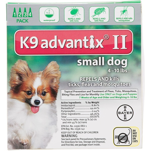 K9 Advantix II K9 Advantix® II Pet Insect Treatment for Dogs - 4 Count (S)