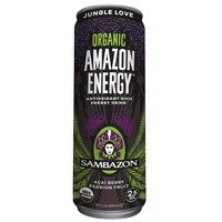 Sambazon Energy Drink, Jungle Love, Acai Berry Passion Fruit