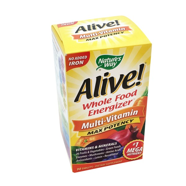 Alive! Multi-Vitamin, Max Potency, Tablets