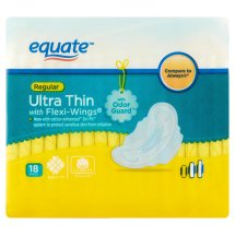 Equate Ultra-Thin Pads with Flexi-Wings, Regular, 18 Ct
