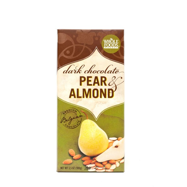 Whole Foods Market Pear & Almond Dark Chocolate Bar
