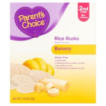 Parent's Choice Rice Rusks Stage 2, Banana Rice Snack, 1.76oz