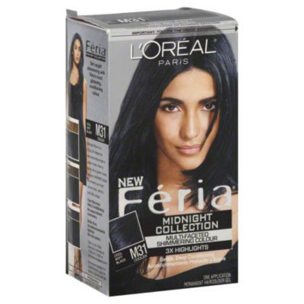 Feria Multi-Faceted Shimmering Colour M31 Cool Soft Black Hair Color