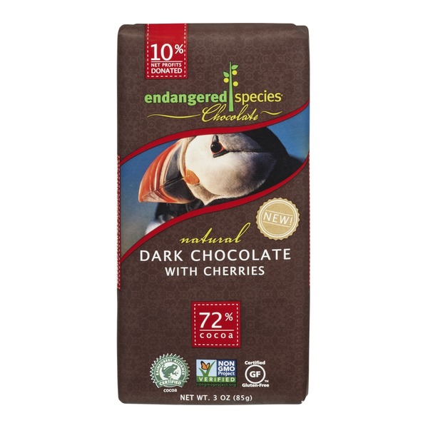 Endangered Species Chocolate Dark Chocolate With Cherries