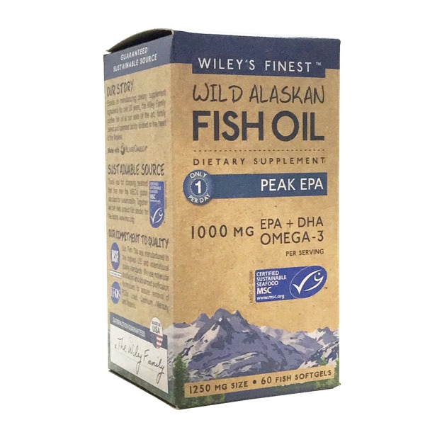 Wiley's Finest Wild Alaskan Fish Oil Dietary Supplement