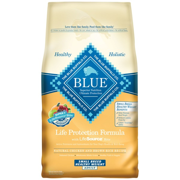 Blue Buffalo Small Breed Healthy Weight Chicken & Brown Rice Adult Dry Dog Food 6 Lbs.