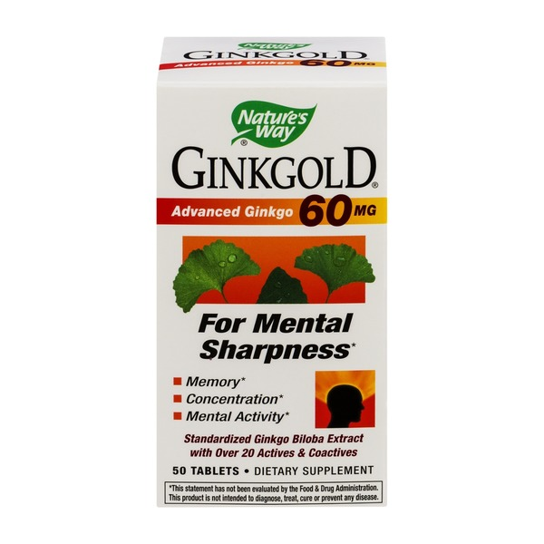 Nature's Way Nature's Ginkgold 60mg - 50 CT