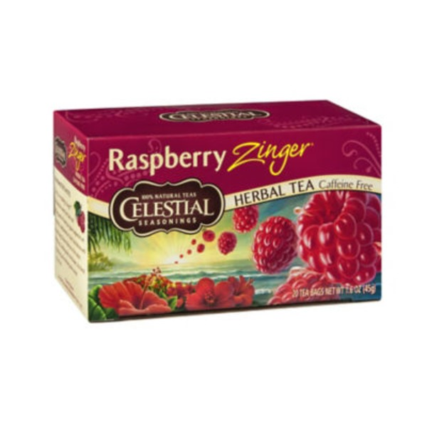 Celestial Seasonings Raspberry Zinger Caffeine Free Herbal Tea