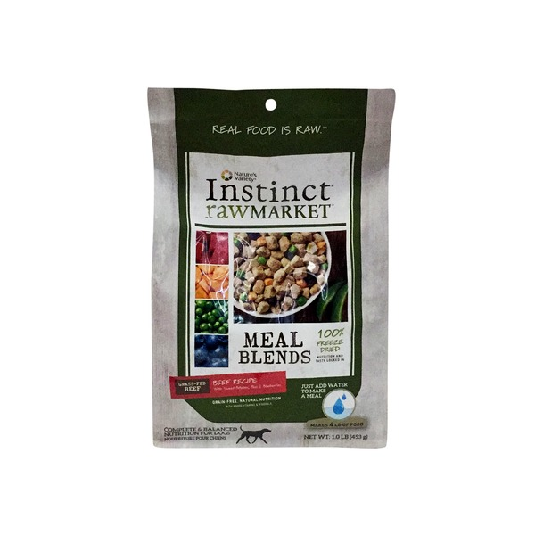 Nature's Variety Dog Instant Food Raw Market Beef