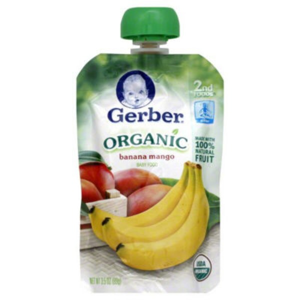 Gerber Organic 2 Nd Foods Organic Bananas & Mangoes Baby Food