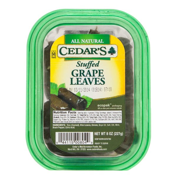 Cedar Stuffed Grape Leaves