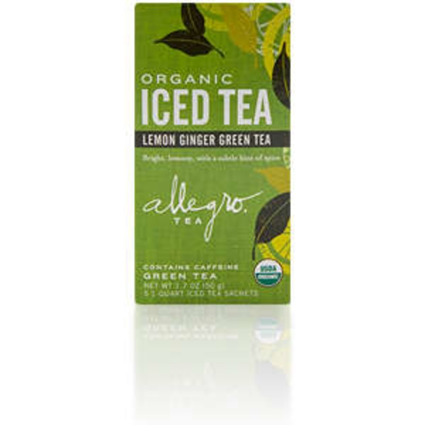 Allegro Organic Lemon Ginger Green Tea