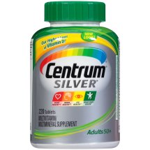 Centrum Silver Adult 50+ (220 Count) Multivitamin / Multimineral Supplement Tablets, Vitamin D3