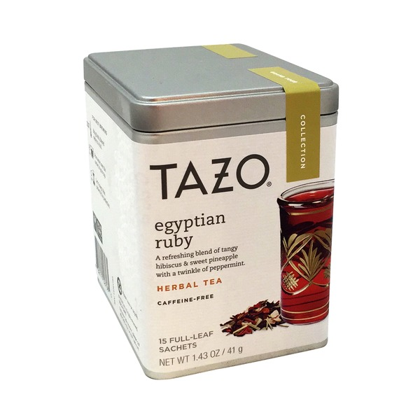 Tazo Tea Egyptian Ruby Herbal Tea Bags 15 Count