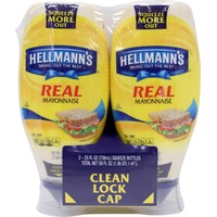 Hellmann's Squeeze Real Mayonnaise, Twin Pack