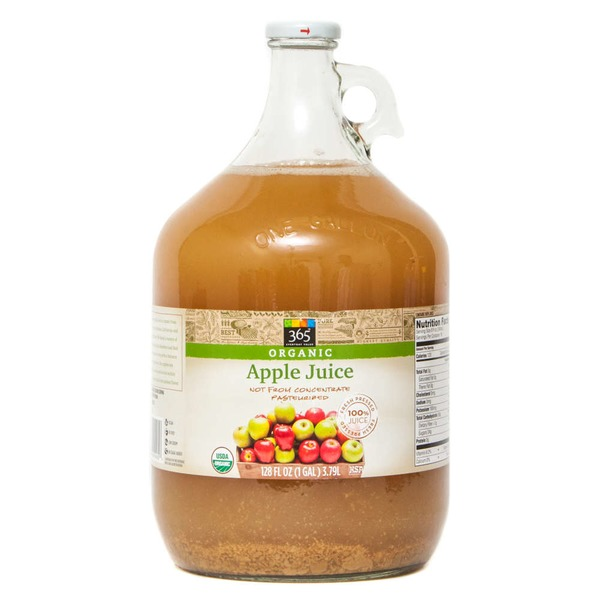 365 Organic Unfiltered Apple Juice