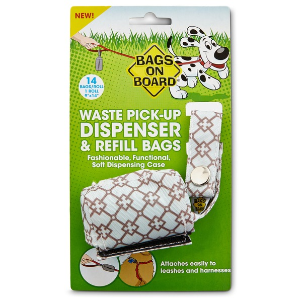 Bags On Board Waste Pick Up Fabric Dispenser Assorted