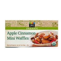 365 Organic Apple Cinnamon Mini Waffles