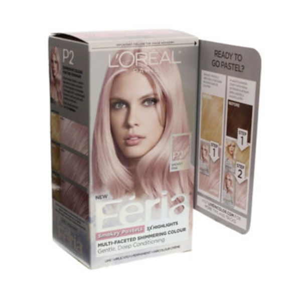 Feria Smokey Pastels P2 Smokey Pink Hair Color