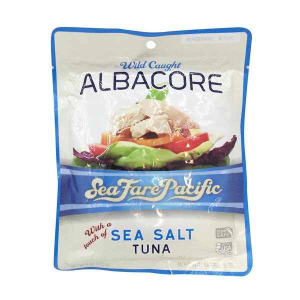 Sea Fare Pacific Wild Caught Albacore Tuna With Sea Salt