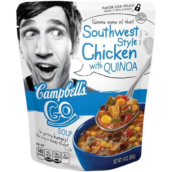 Campbell's Go Soup Southwest Style Chicken With Quinoa Soup