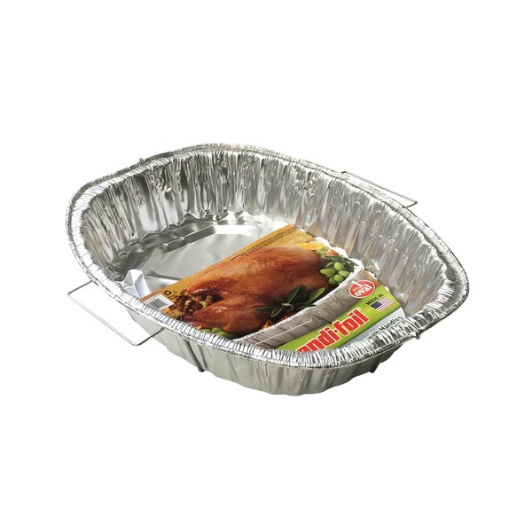 Handi-Foil Rack Roaster, Giant Oval, with Handles