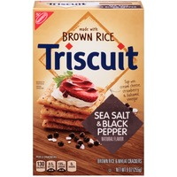 Nabisco Triscuit Brown Rice & Wheat Sea Salt & Black Pepper Crackers