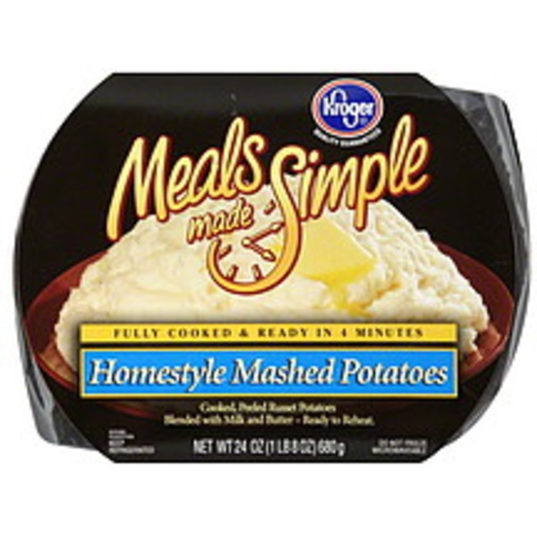 Kroger Meals Made Simple Home Style Mashed Potatoes