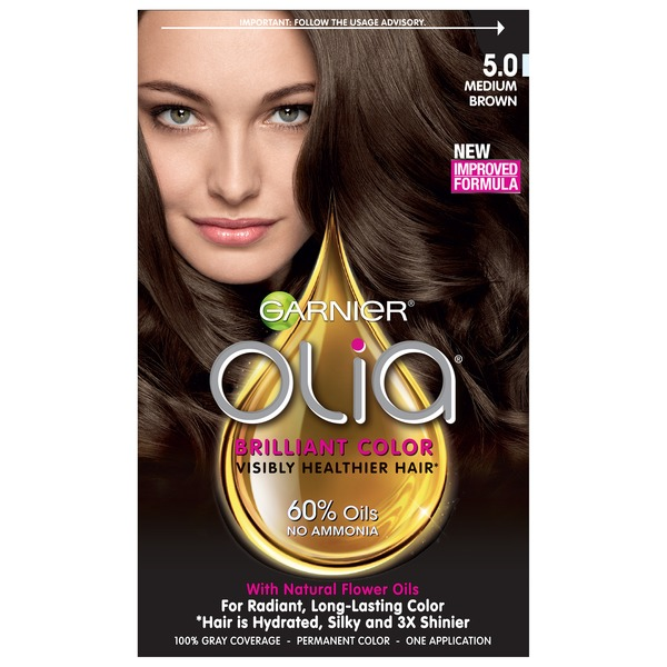 Olia™ 5.0 Medium Brown Oil Powered Permanent Color